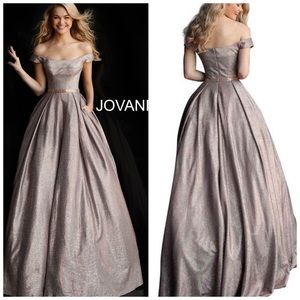 Jovani 66950 Dusty Rose ballgown